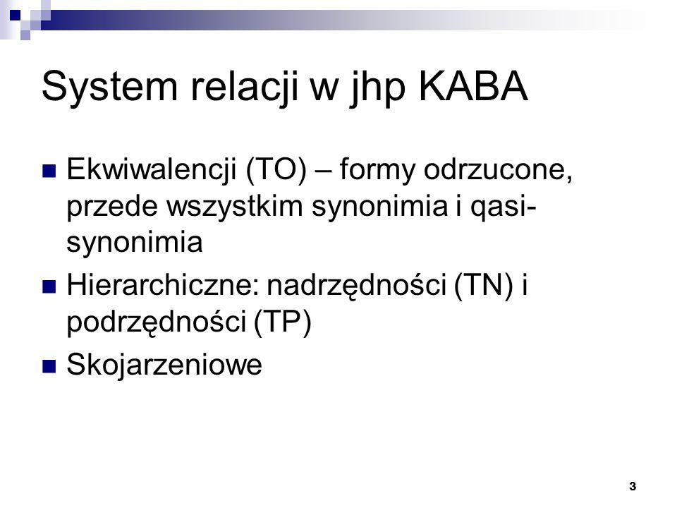 System relacji w jhp KABA