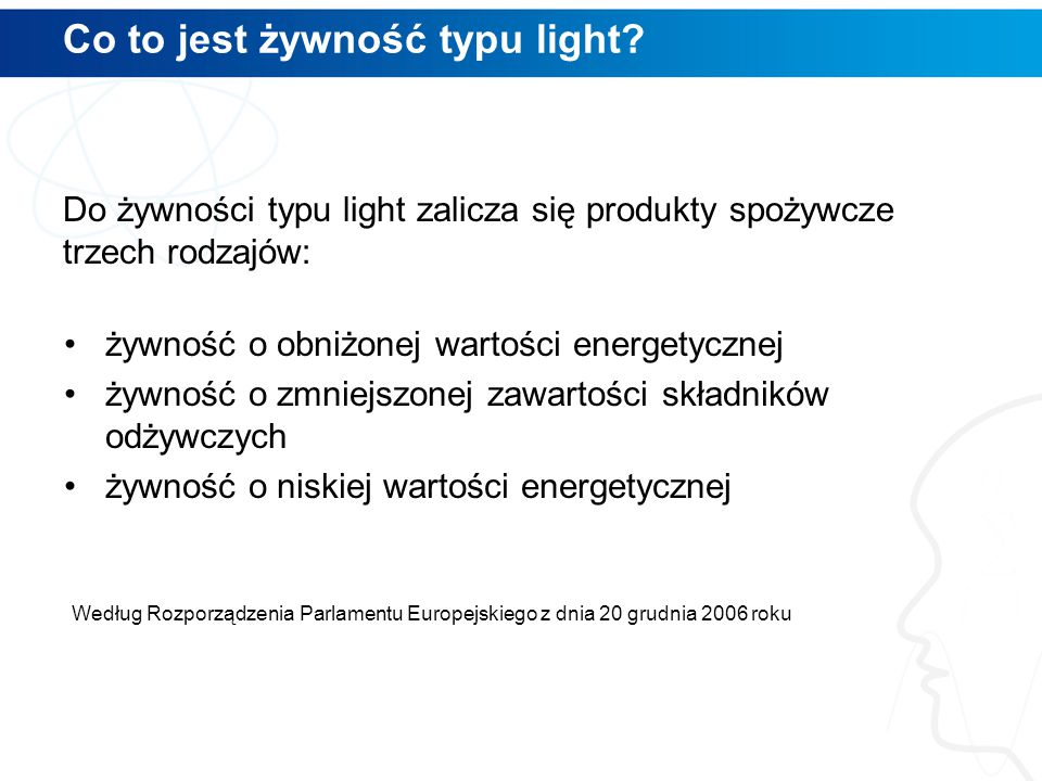 Co to jest żywność typu light