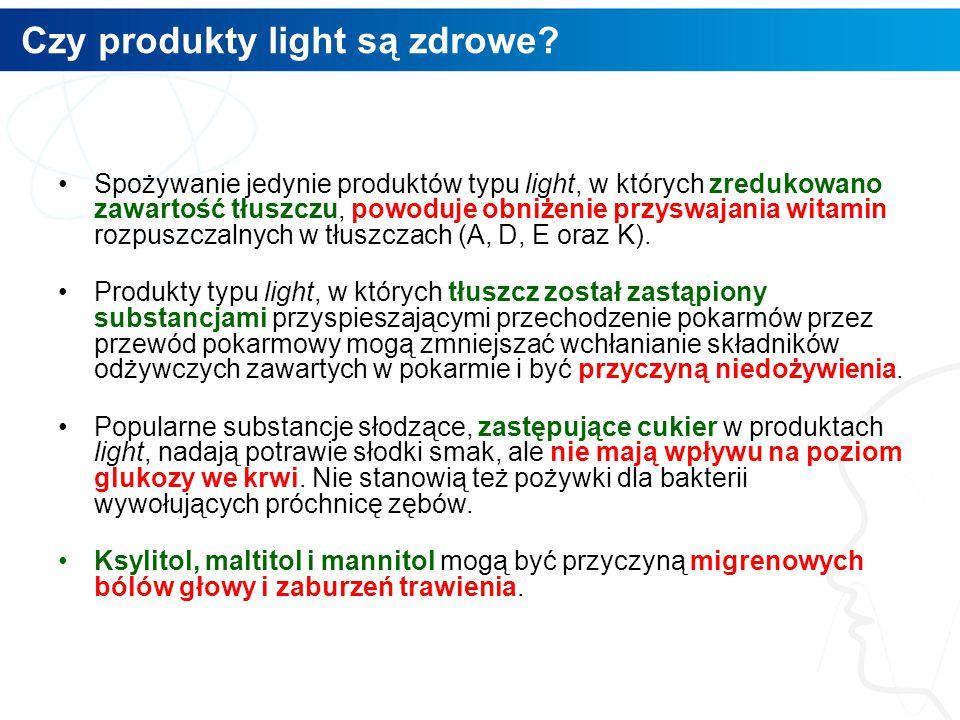Czy produkty light są zdrowe