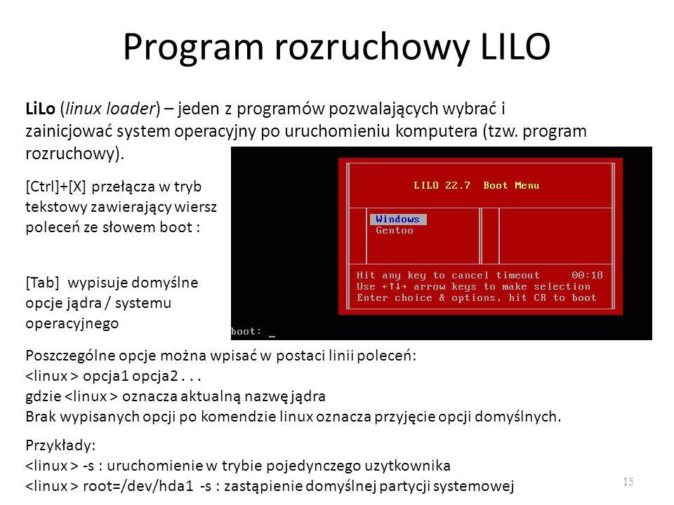Program rozruchowy LILO