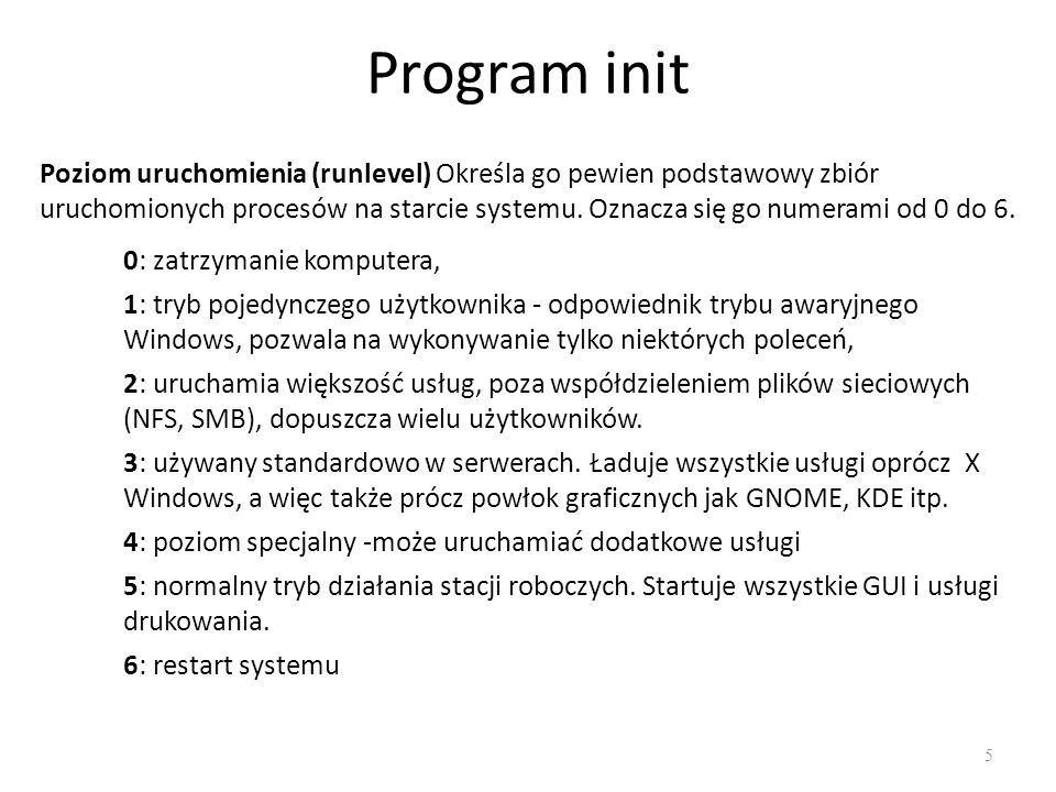 Program init