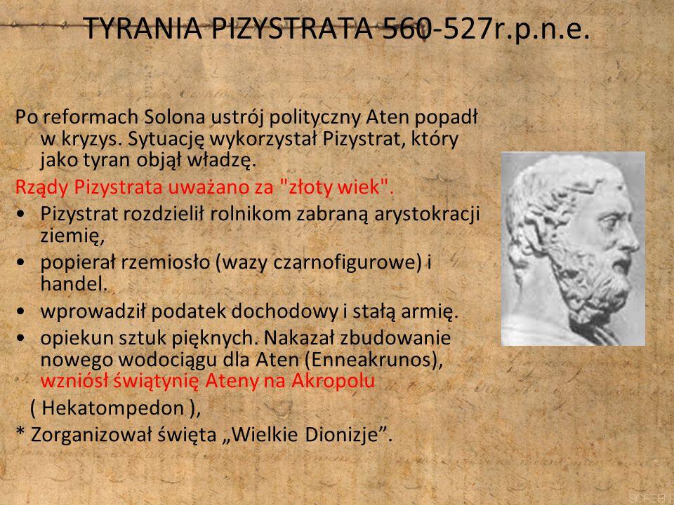 TYRANIA PIZYSTRATA 560-527r.p.n.e.