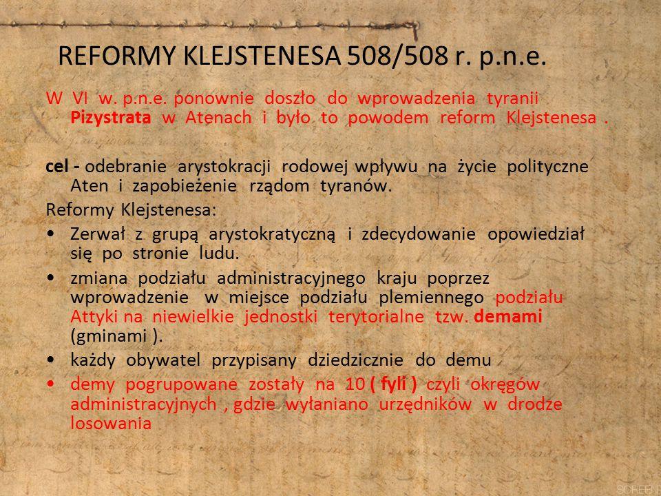 REFORMY KLEJSTENESA 508/508 r. p.n.e.