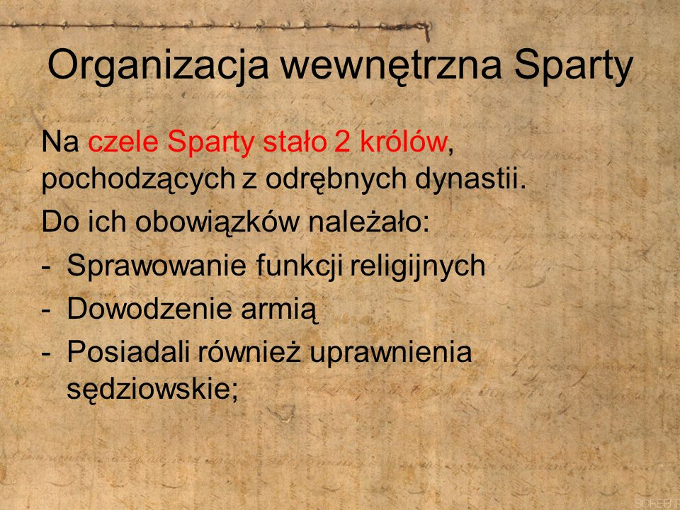 Organizacja wewnętrzna Sparty