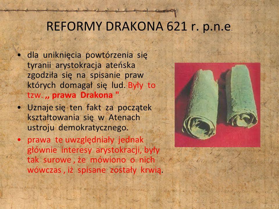 REFORMY DRAKONA 621 r. p.n.e.