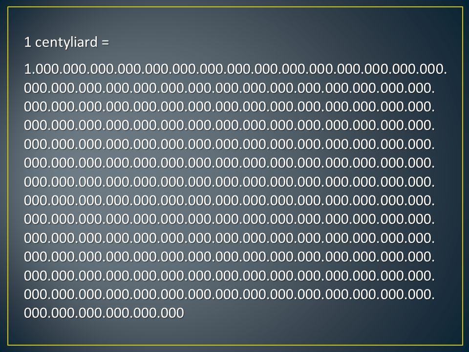 1 centyliard = 1.000.000.000.000.000.000.000.000.000.000.000.000.000.000.000.000.000.000.000.000.000.000.000.000.000.000.000.000.000.000.