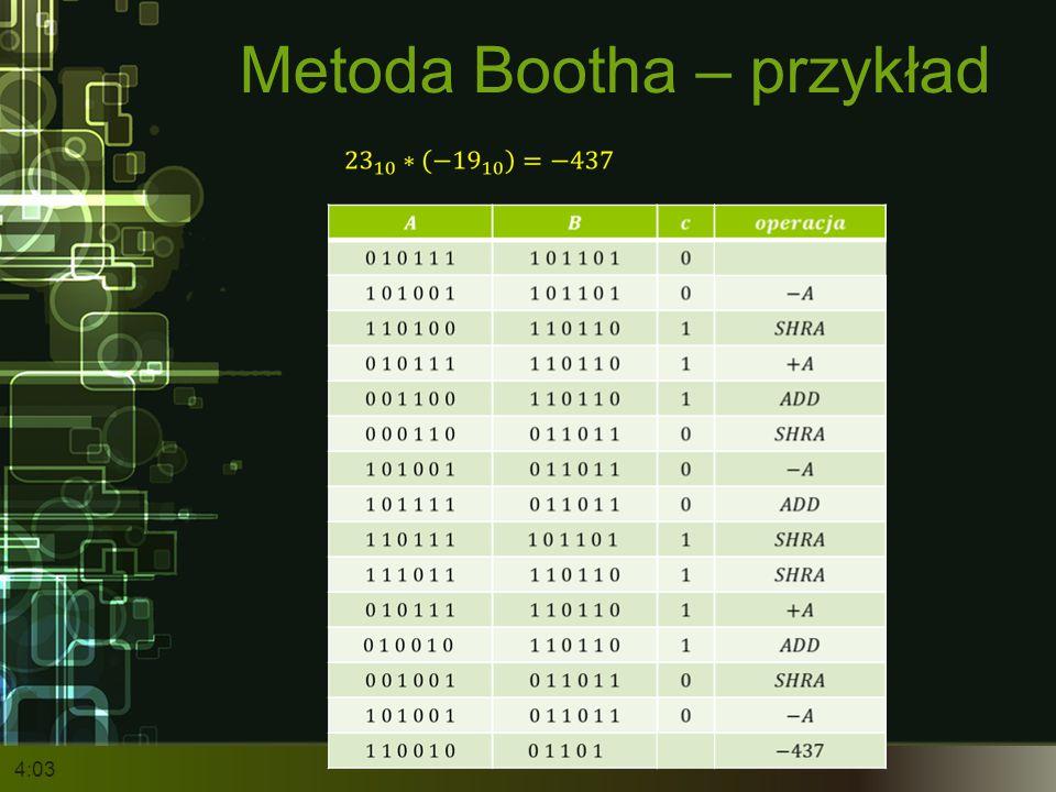 Metoda Bootha – przykład