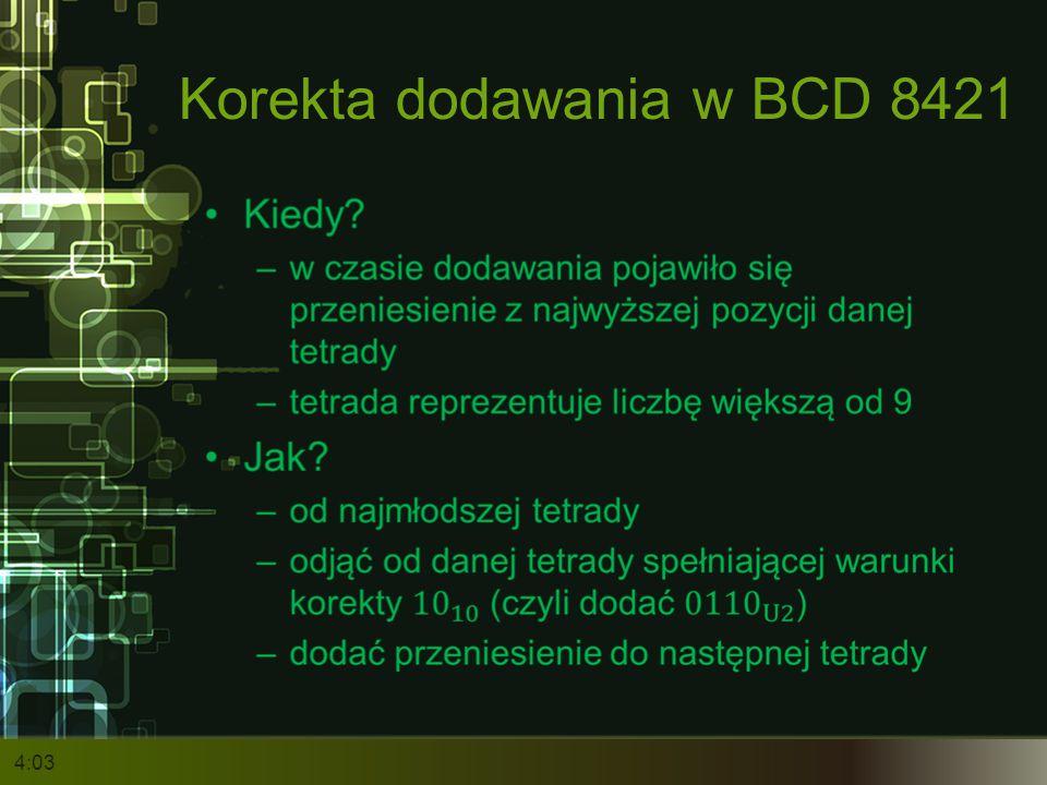 Korekta dodawania w BCD 8421