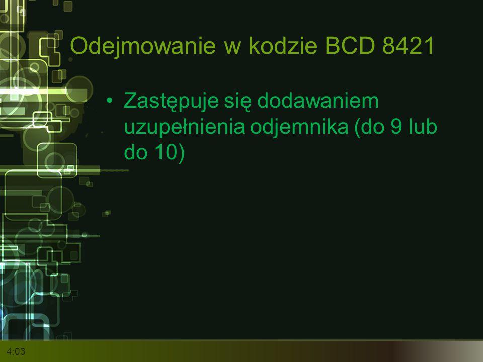 Odejmowanie w kodzie BCD 8421