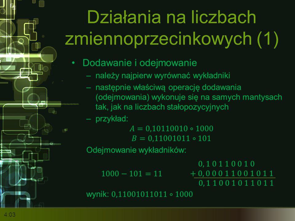 Działania na liczbach zmiennoprzecinkowych (1)