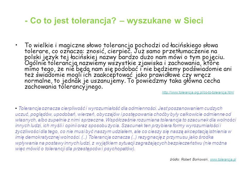 - Co to jest tolerancja – wyszukane w Sieci