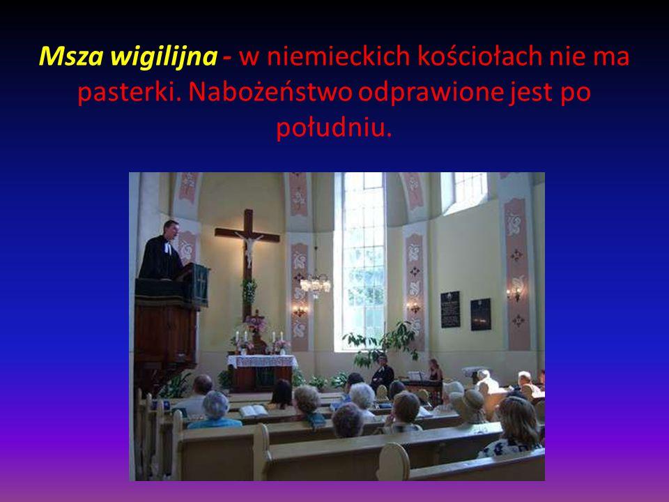 Msza wigilijna - w niemieckich kościołach nie ma pasterki