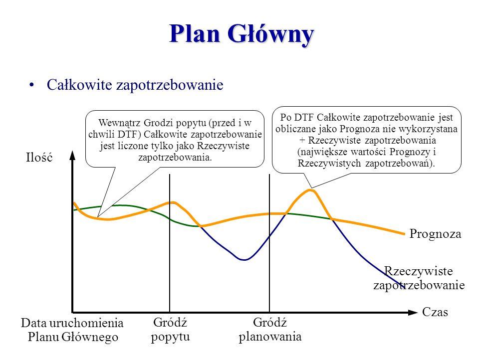 Plan Główny Całkowite zapotrzebowanie Czas Ilość Gródź planowania