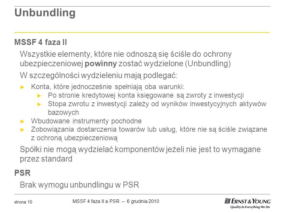 Unbundling MSSF 4 faza II