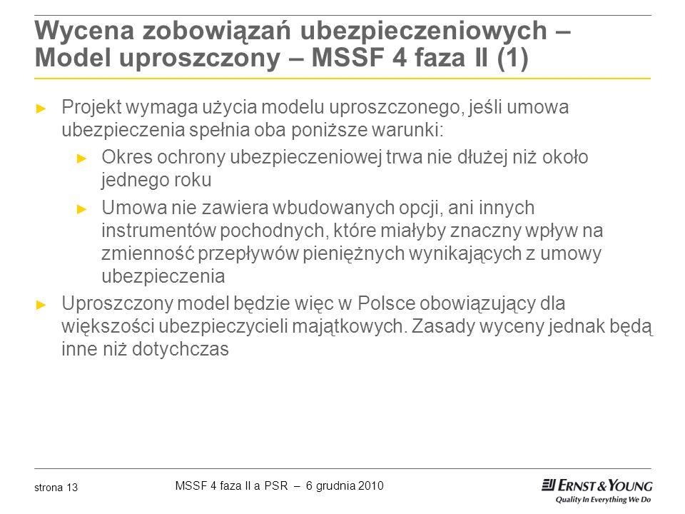 Wycena zobowiązań ubezpieczeniowych – Model uproszczony – MSSF 4 faza II (1)
