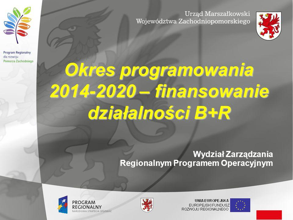 2014-2020 – finansowanie działalności B+R