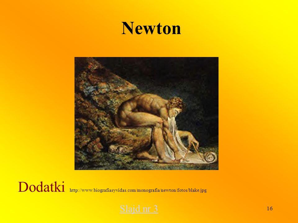 Newton Dodatki http://www.biografiasyvidas.com/monografia/newton/fotos/blake.jpg Slajd nr 3