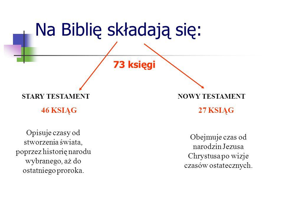 Na Biblię składają się: