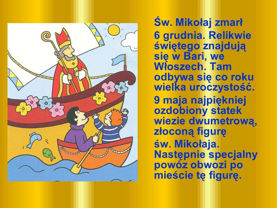 9 maja najpiękniej ozdobiony statek wiezie dwumetrową, złoconą figurę