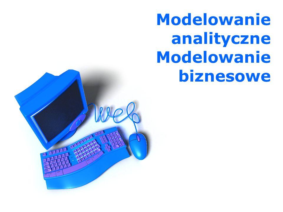 Modelowanie analityczne Modelowanie biznesowe