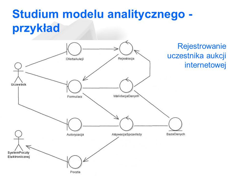 Studium modelu analitycznego - przykład
