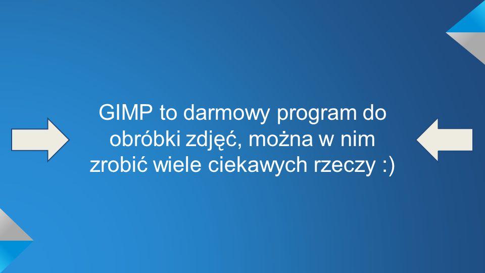 GIMP to darmowy program do obróbki zdjęć, można w nim zrobić wiele ciekawych rzeczy :)