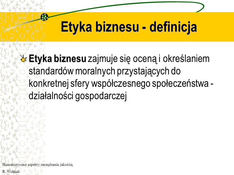 Etyka biznesu - definicja