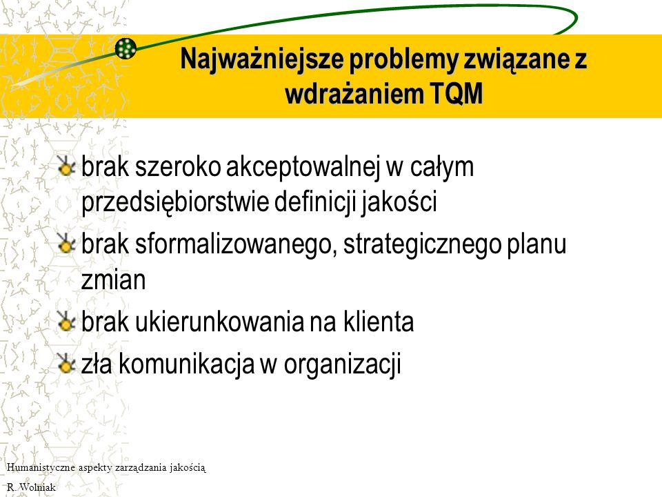 Najważniejsze problemy związane z wdrażaniem TQM
