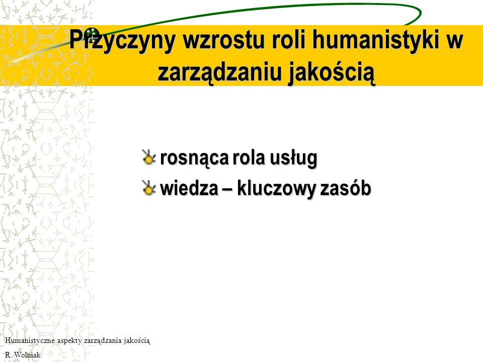 Przyczyny wzrostu roli humanistyki w zarządzaniu jakością