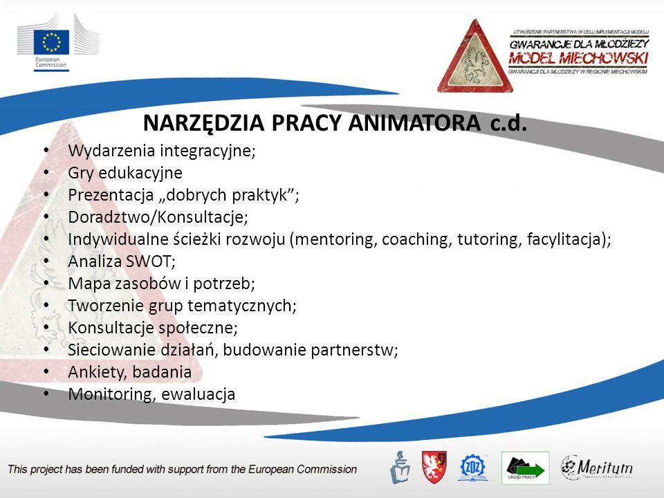 NARZĘDZIA PRACY ANIMATORA c.d.