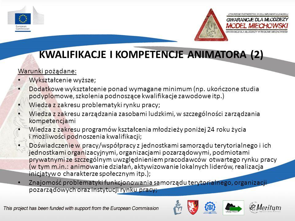KWALIFIKACJE I KOMPETENCJE ANIMATORA (2)