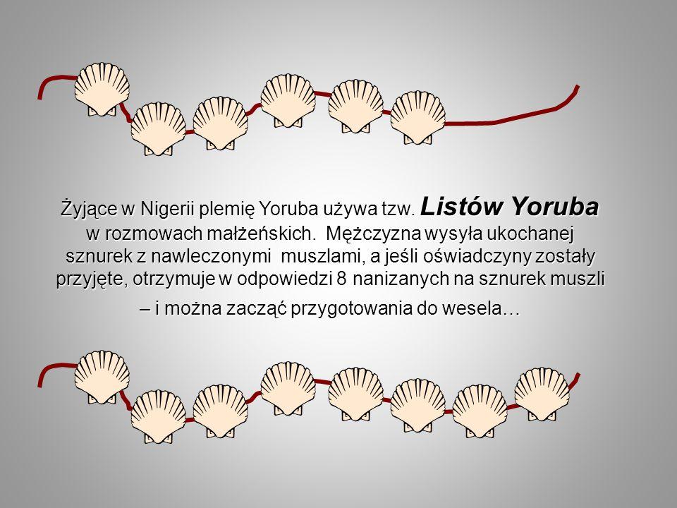 Żyjące w Nigerii plemię Yoruba używa tzw