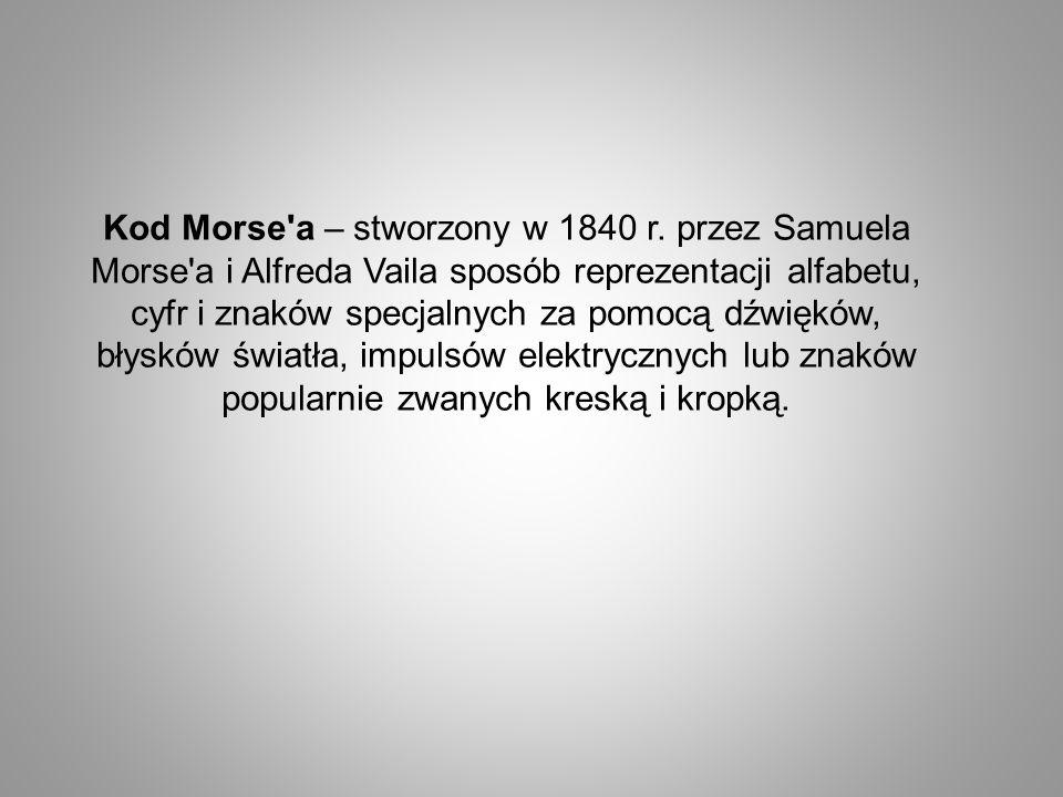 Kod Morse a – stworzony w 1840 r