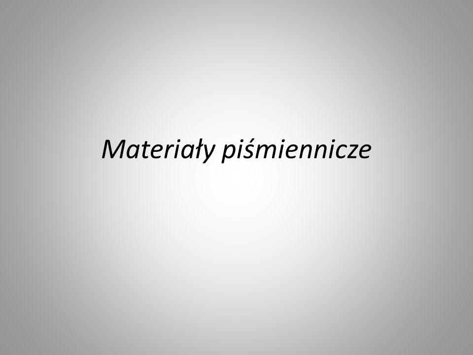 Materiały piśmiennicze