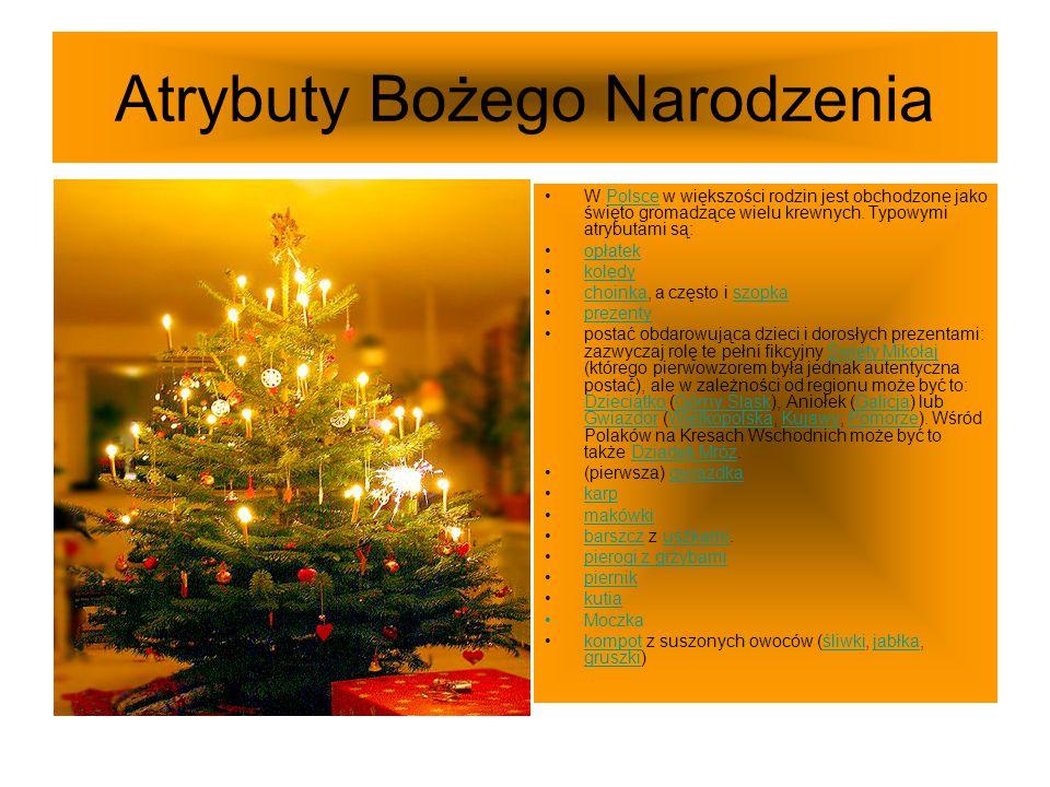 Atrybuty Bożego Narodzenia