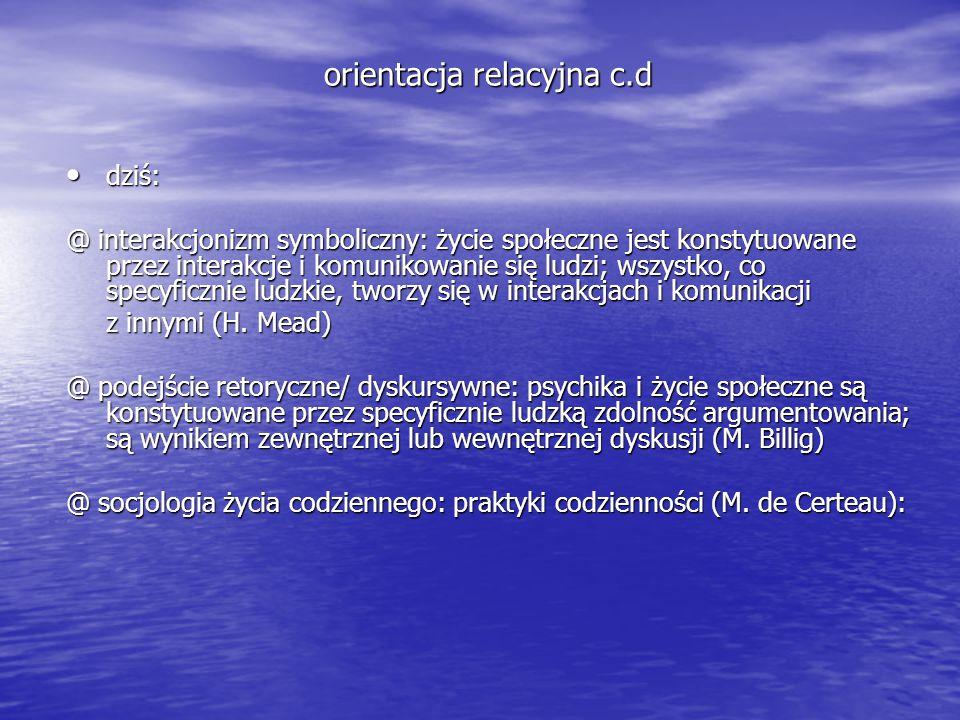 orientacja relacyjna c.d