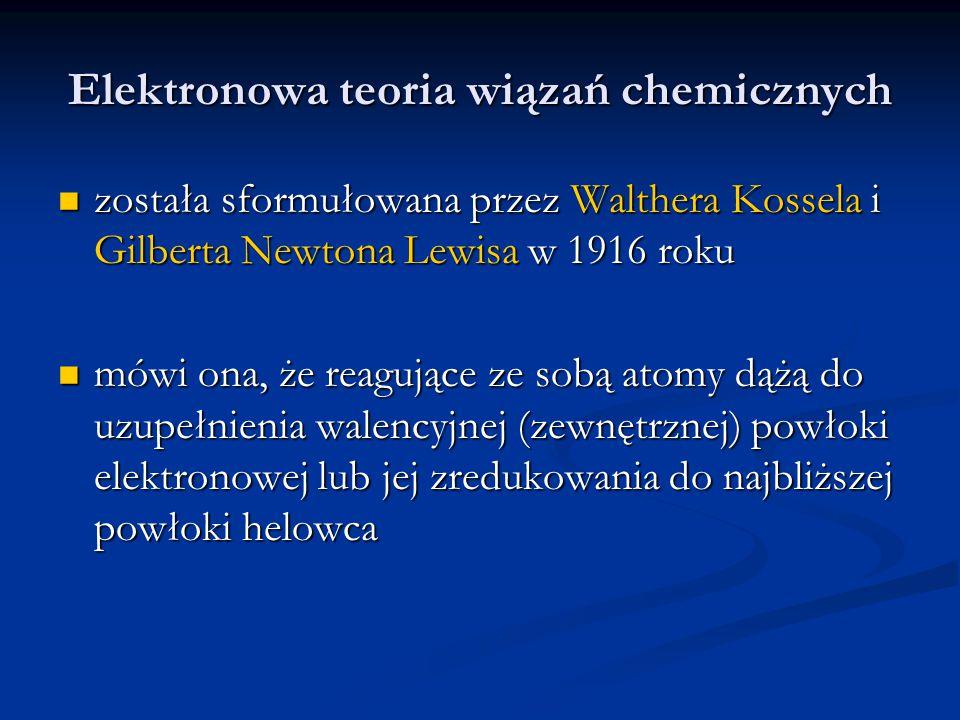 Elektronowa teoria wiązań chemicznych
