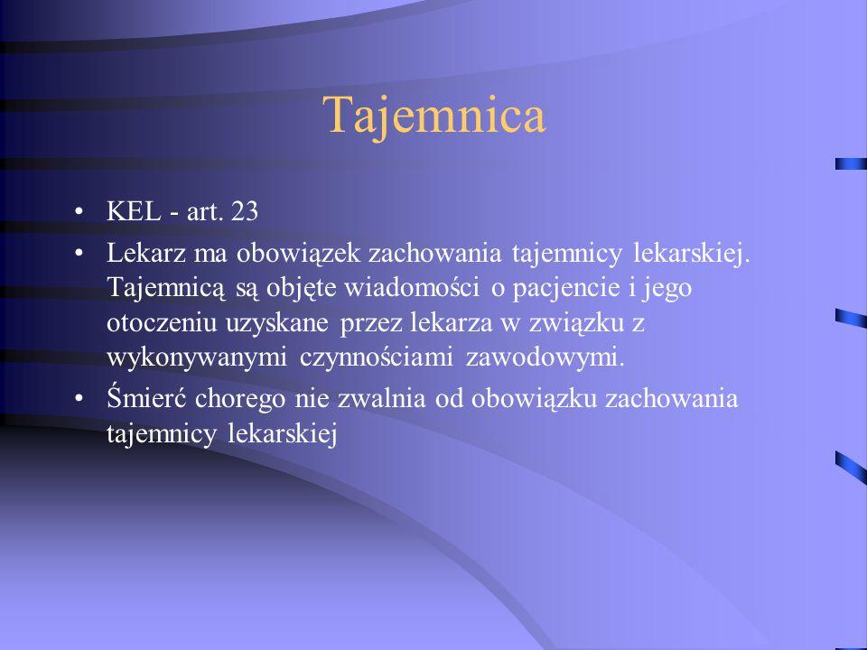 Tajemnica KEL - art. 23.