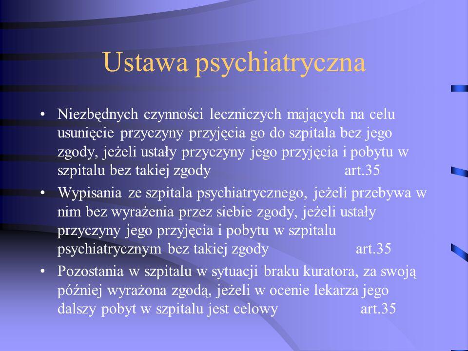 Ustawa psychiatryczna