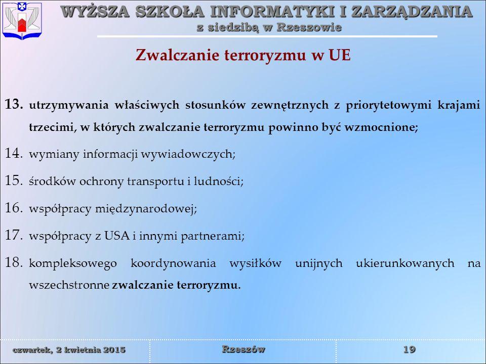 Zwalczanie terroryzmu w UE