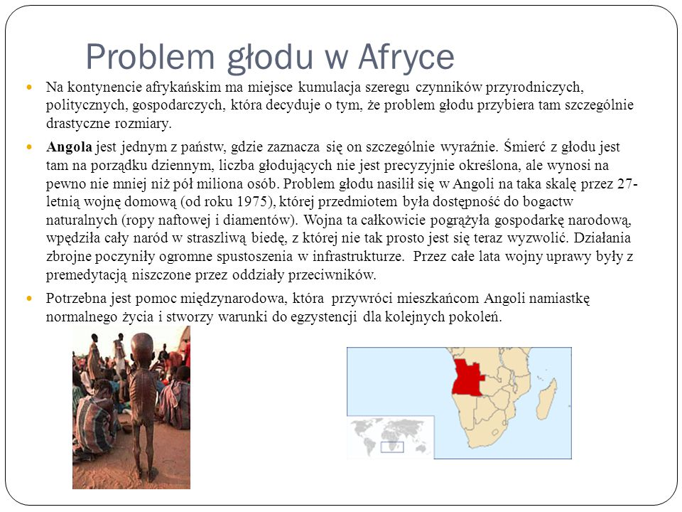 Problem głodu w Afryce