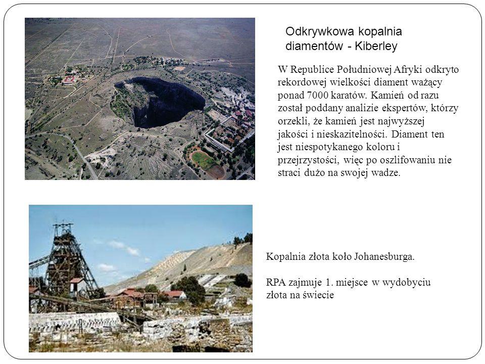 Odkrywkowa kopalnia diamentów - Kiberley