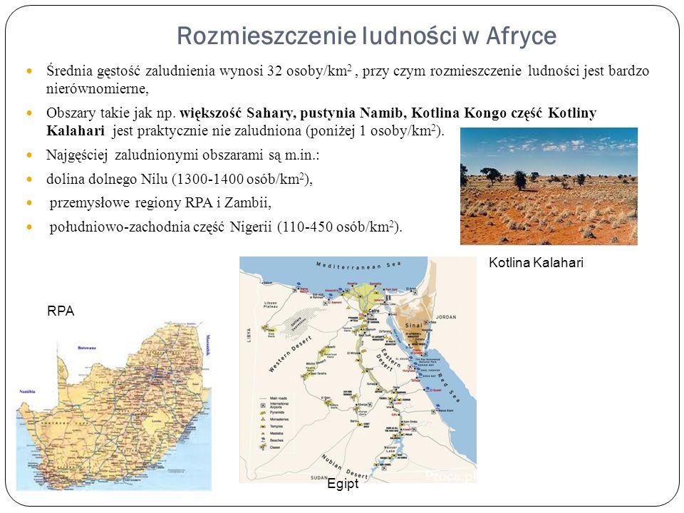Rozmieszczenie ludności w Afryce