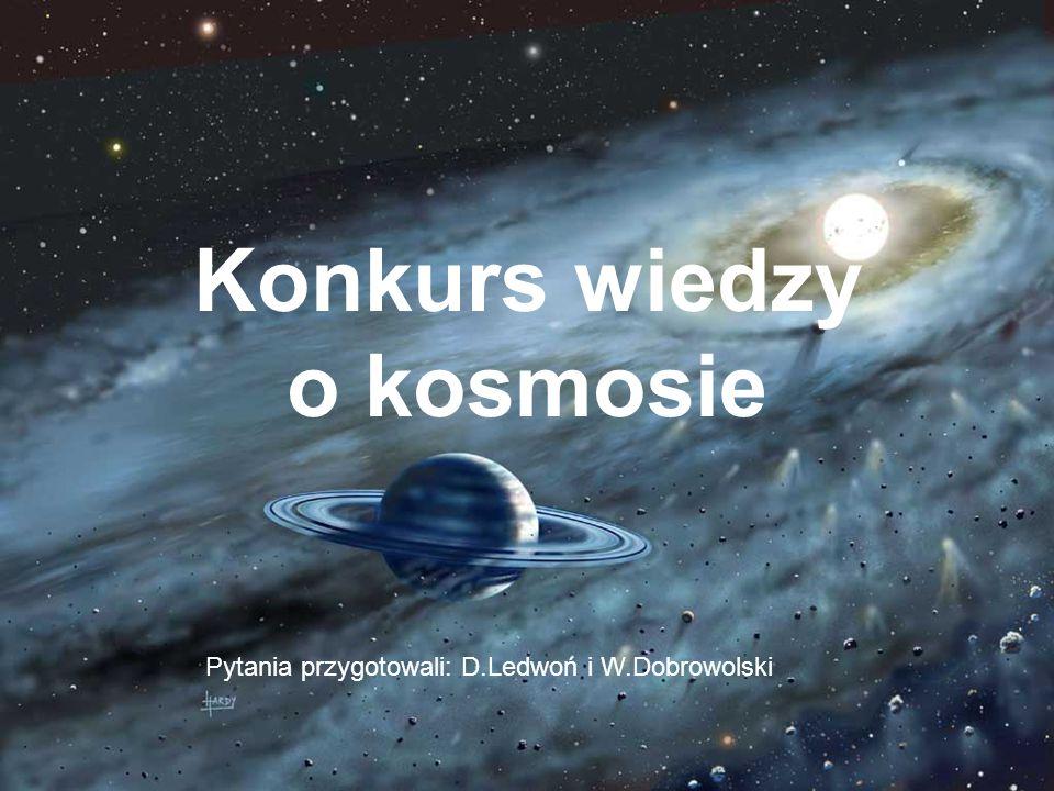 Konkurs wiedzy o kosmosie