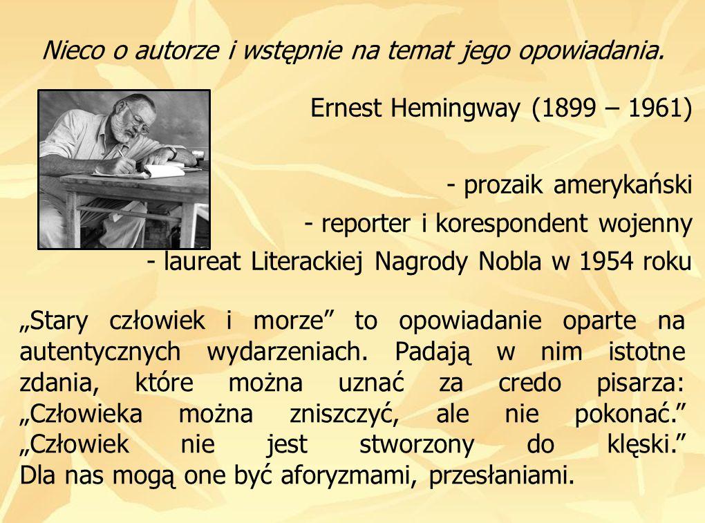 Nieco o autorze i wstępnie na temat jego opowiadania.