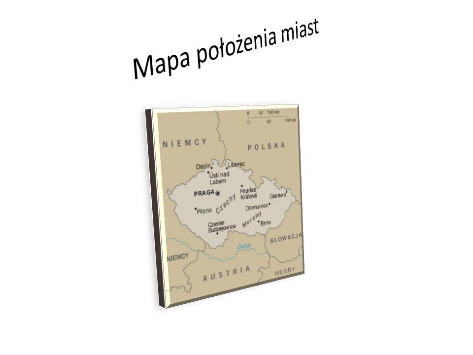 Mapa położenia miast