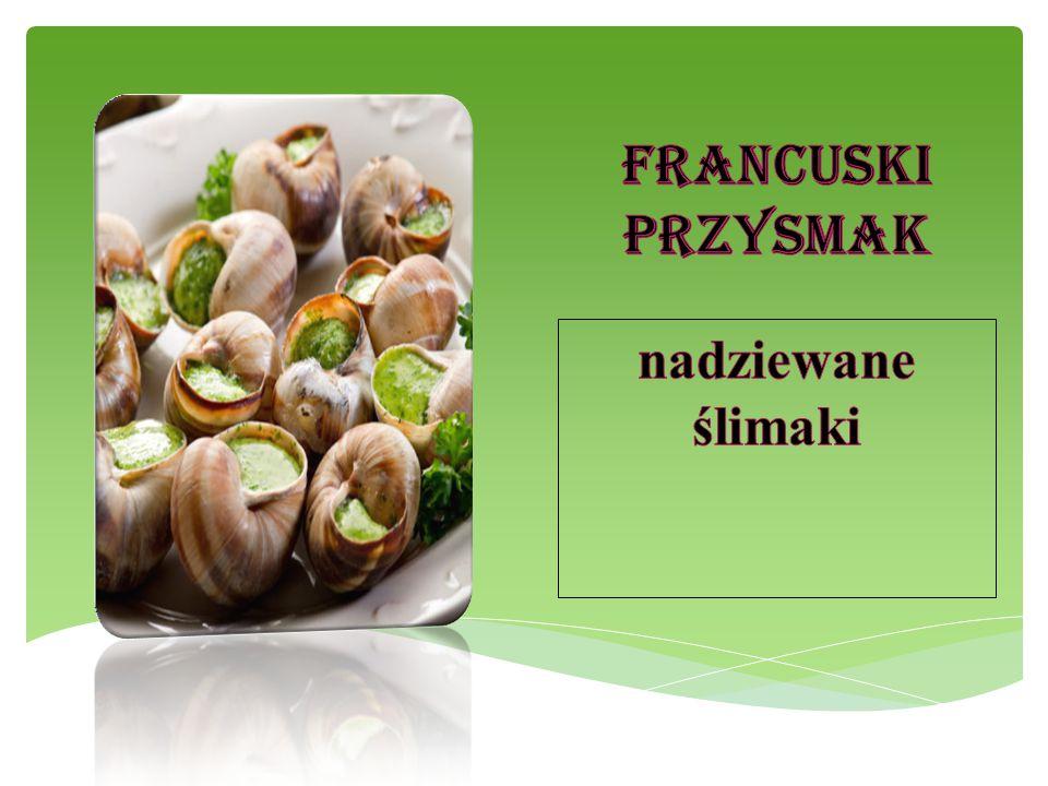 Francuski przysmak nadziewane ślimaki