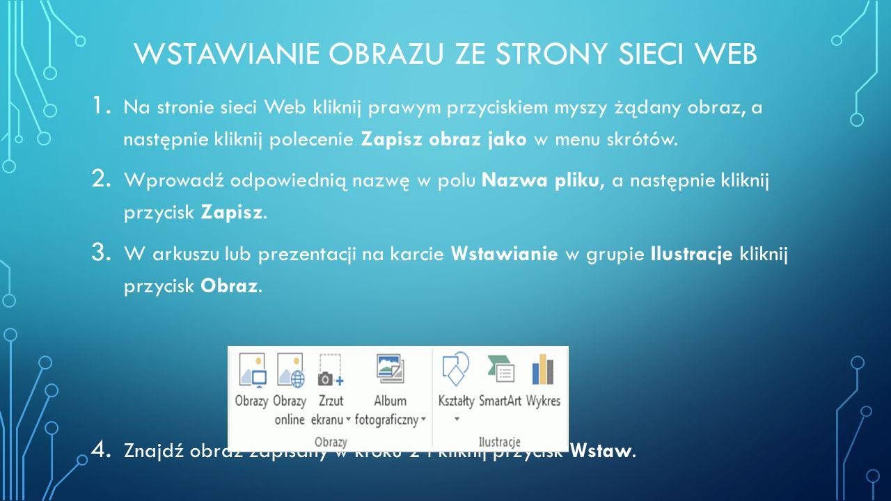 Wstawianie obrazu ze strony sieci web