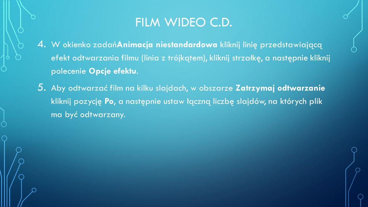 Film wideo c.d.