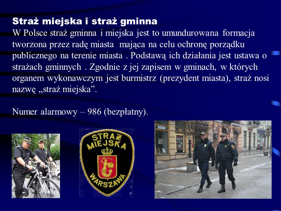Straż miejska i straż gminna